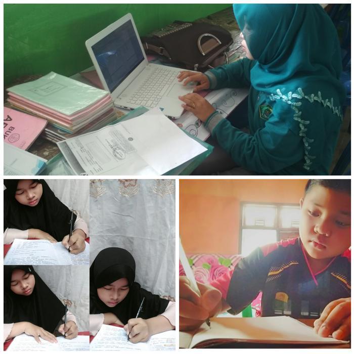 Peserta Didik MTsN 5 Kerinci PJJ Menggunakan Rumah Belajar